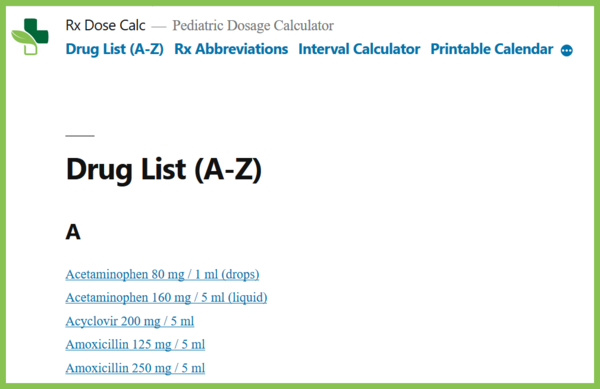 Drug List Image